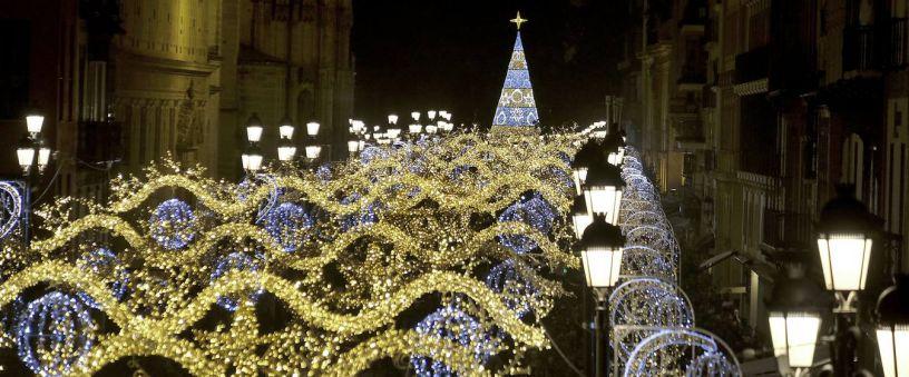Christmas lighting in Seville