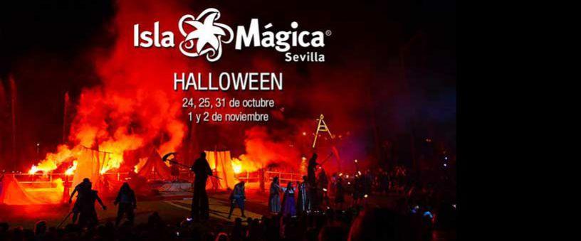 Halloween in den Themenpark von Sevilla Isla Mágica im Oktober und November 2015