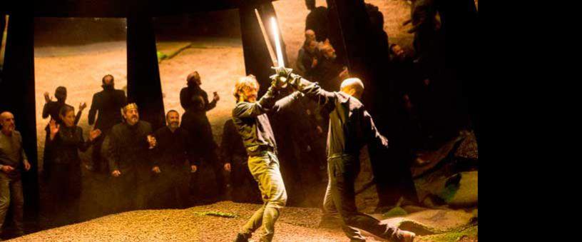 Hamlet wird im Theater Lope de Vega in Sevilla im November 2015