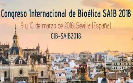 Congreso Internacional de Bioética SAIB 2018 en Sevilla