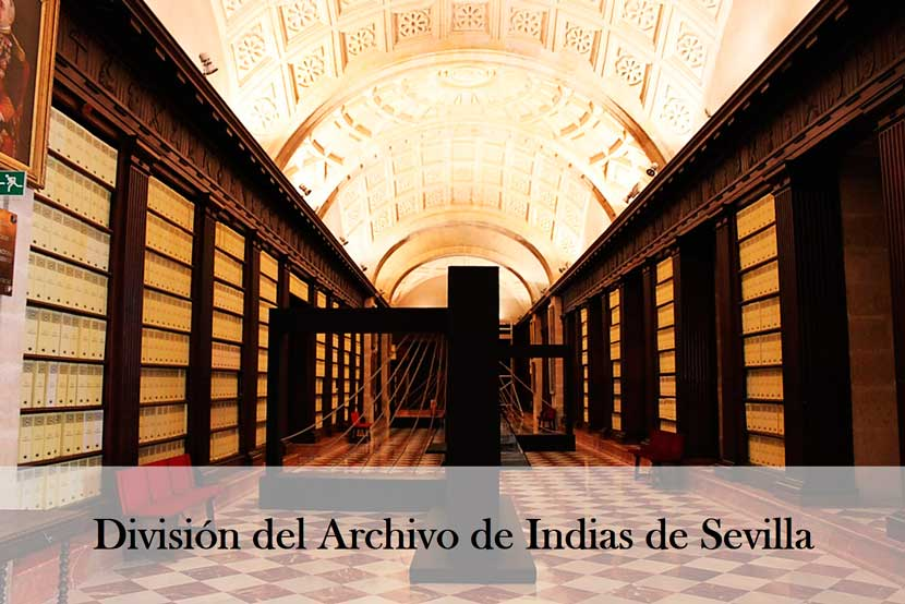 How is the Archive of the Indies of Seville divided