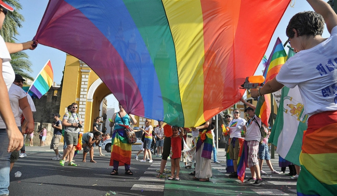 March of pride (LGTBI) in Seville 2018