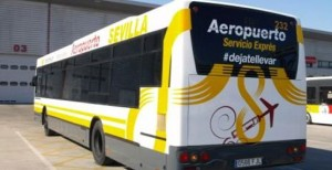 Free WIFI in the autobus of Seville airport